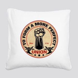More Perfect Union Square Canvas Pillow