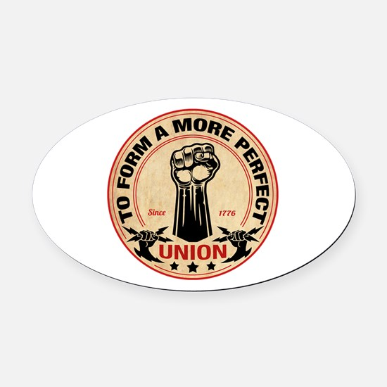 More Perfect Union Oval Car Magnet