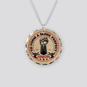 More Perfect Union Necklace Circle Charm