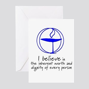 Inherent worth and dignity Greeting Cards