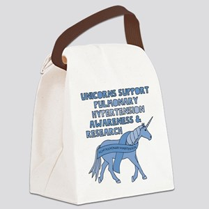 Unicorns Support Pulmonary Hypert Canvas Lunch Bag