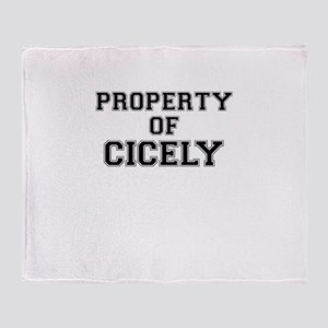 Property of CICELY Throw Blanket