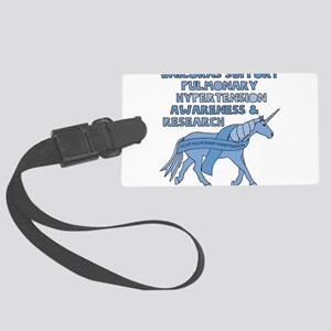 Unicorns Support Pulmonary Hyper Large Luggage Tag