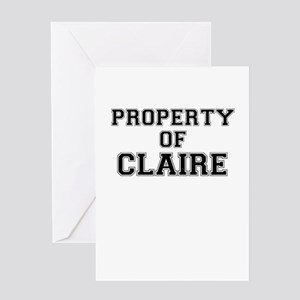 Property of CLAIRE Greeting Cards