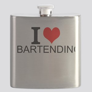 I Love Bartending Flask