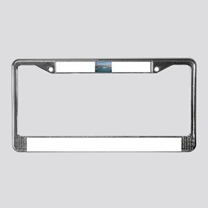 Red Bridge over the River License Plate Frame