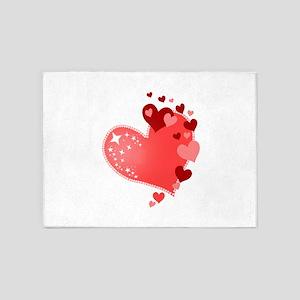 Hearts of Love Cute 5'x7'Area Rug