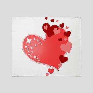 Hearts of Love Cute Throw Blanket