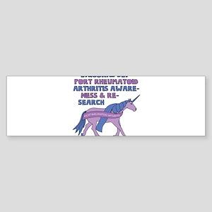 Unicorns Support Rheumatoid Arthrit Bumper Sticker
