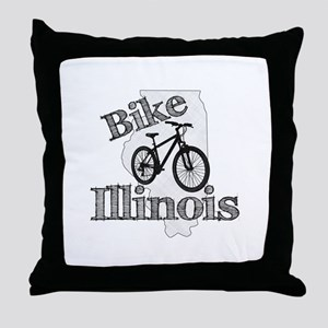 Bike Illinois Throw Pillow