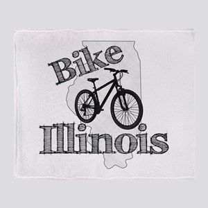 Bike Illinois Throw Blanket