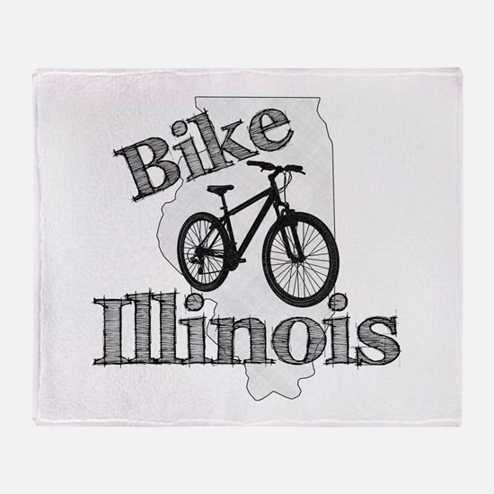 Bike Illinois Throw Blanket