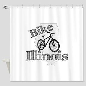 Bike Illinois Shower Curtain