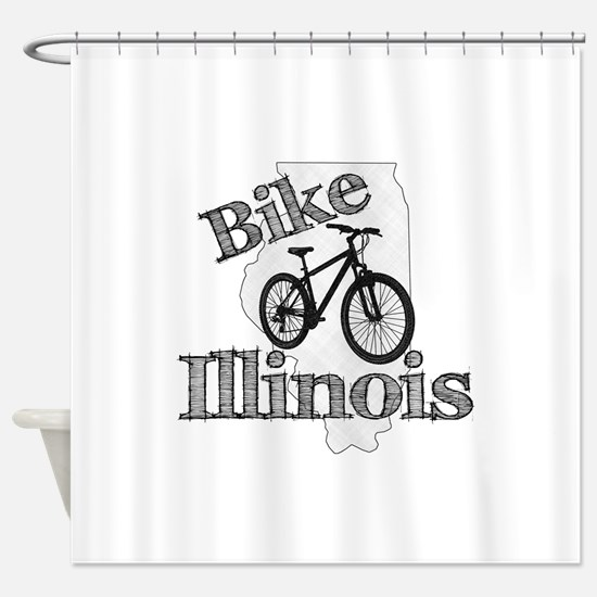 Bike Illinois Shower Curtain