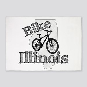 Bike Illinois 5'x7'Area Rug