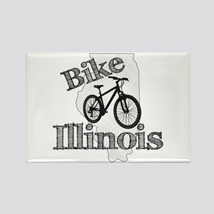 Bike Illinois Rectangle Magnet