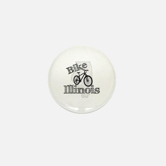 Bike Illinois Mini Button