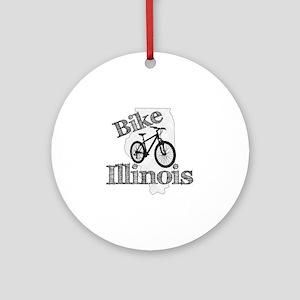 Bike Illinois Round Ornament