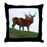 2 Bucks Throw Pillow