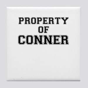 Property of CONNER Tile Coaster