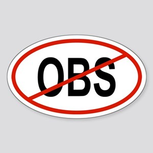 OBS Oval Sticker