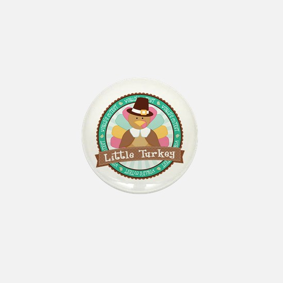 Little Turkey Mini Button