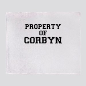 Property of CORBYN Throw Blanket