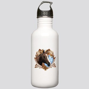 Horse Head Crest Stainless Water Bottle 1.0L