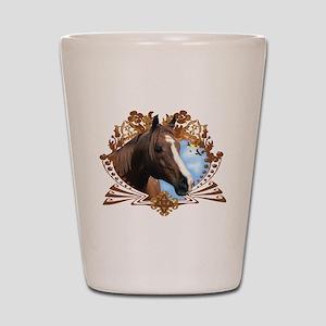 Horse Head Crest Shot Glass