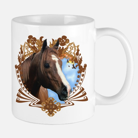 Horse Head Crest Mugs