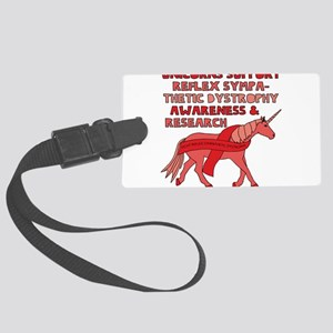 Unicorns Support Reflex Sympathe Large Luggage Tag