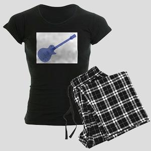 Solid Blue Guitar Women's Dark Pajamas