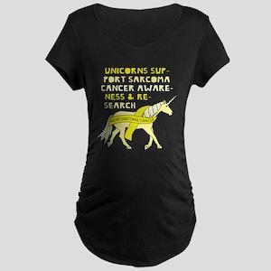 Unicorns Support Sarcoma Cancer Maternity T-Shirt