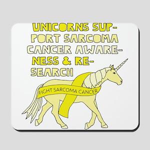 Unicorns Support Sarcoma Cancer Awarenes Mousepad