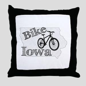 Bike Iowa Throw Pillow