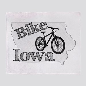 Bike Iowa Throw Blanket