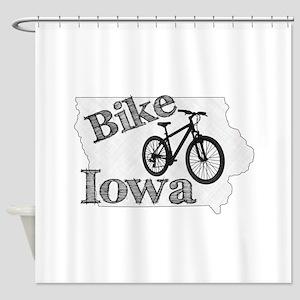 Bike Iowa Shower Curtain