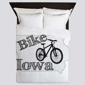 Bike Iowa Queen Duvet