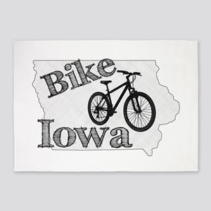 Bike Iowa 5'x7'Area Rug