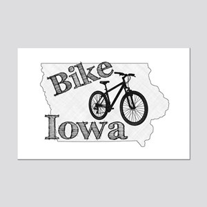 Bike Iowa Mini Poster Print