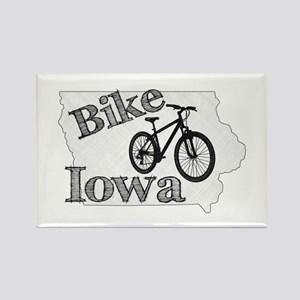Bike Iowa Rectangle Magnet