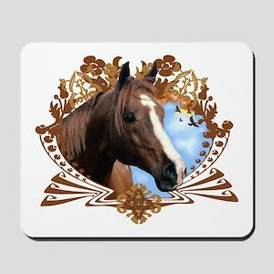 Horse Head Crest Mousepad