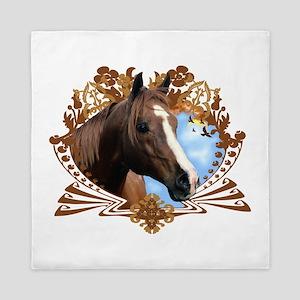 Horse Head Crest Queen Duvet
