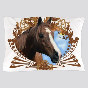 Horse Head Crest Pillow Case