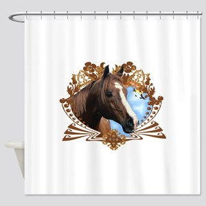 Horse Head Crest Shower Curtain