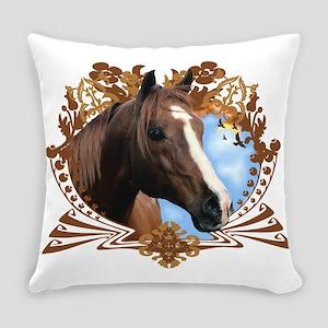 Horse Head Crest Everyday Pillow