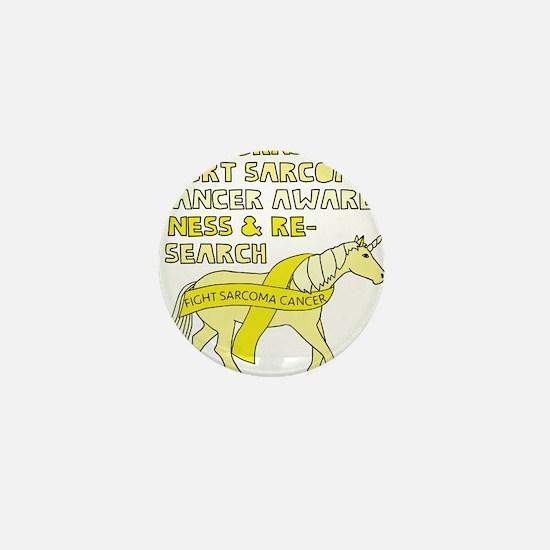 Unicorns Support Sarcoma Cancer Awaren Mini Button