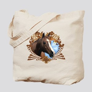 Horse Head Crest Tote Bag