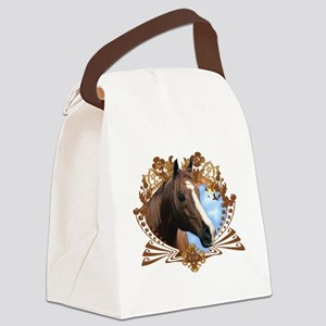 Horse Head Crest Canvas Lunch Bag