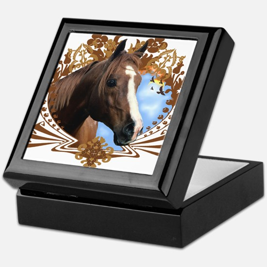 Horse Head Crest Keepsake Box